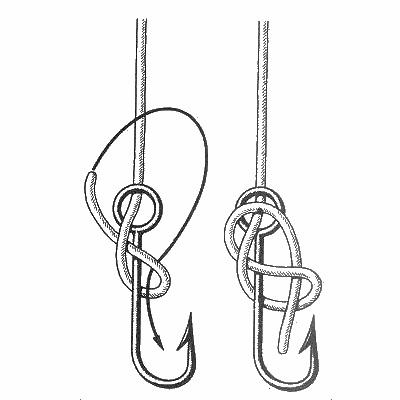 Как завязывать крючки на удочку