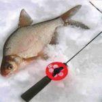 Удочка с кивком для зимней ловли и метод подготовки снасти